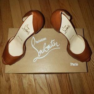 Christian Louboutin Armadillo peep toe pumps